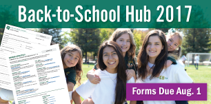 Back to School Hub Forms Due Aug 1