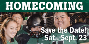 Homecoming, save the date! Sat., Sept. 23